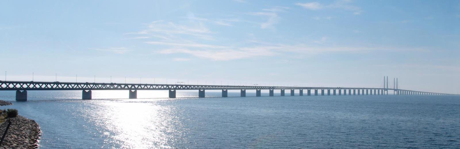 Oresund bridge connecting Sweden and Denmark